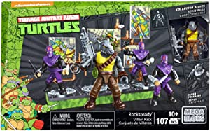 Mega Construx Teenage Mutant Ninja Turtles Collectors Rocksteady Villain Pack