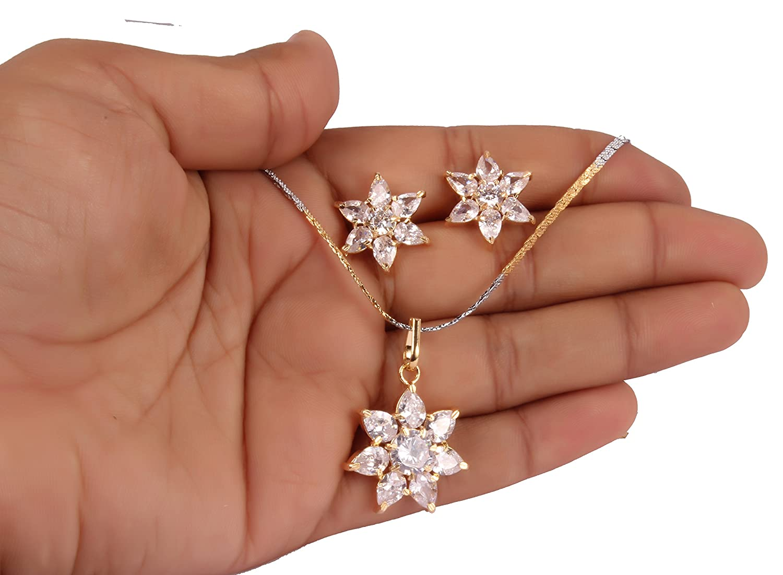 Shiv/_Collection Girls Amazing Fashion Orange Pendant Earring Set Indian Partywear Jewelry