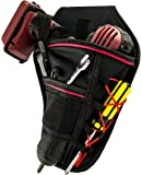 Drill Holster by Bastex - Heavy Duty Belt Worn Right Handed Holder, Fits Most T Handle Drills - Black and Red