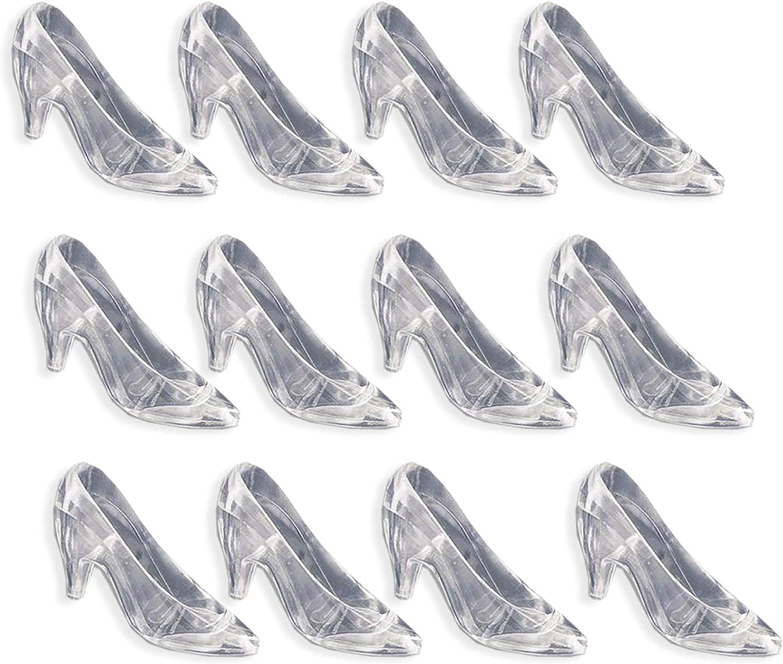 12 CLEAR HIGH HEEL shoe center piece party favor BIRTHDAY PLASTIC DIY-ZAPATILLA