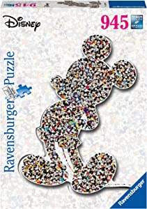 Ravensburger Disney Mickey Mouse Shaped 945 Piece Jigsaw Puzzle for Adults – Every Piece is Unique, Softclick Technology Means Pieces Fit Together Perfectly