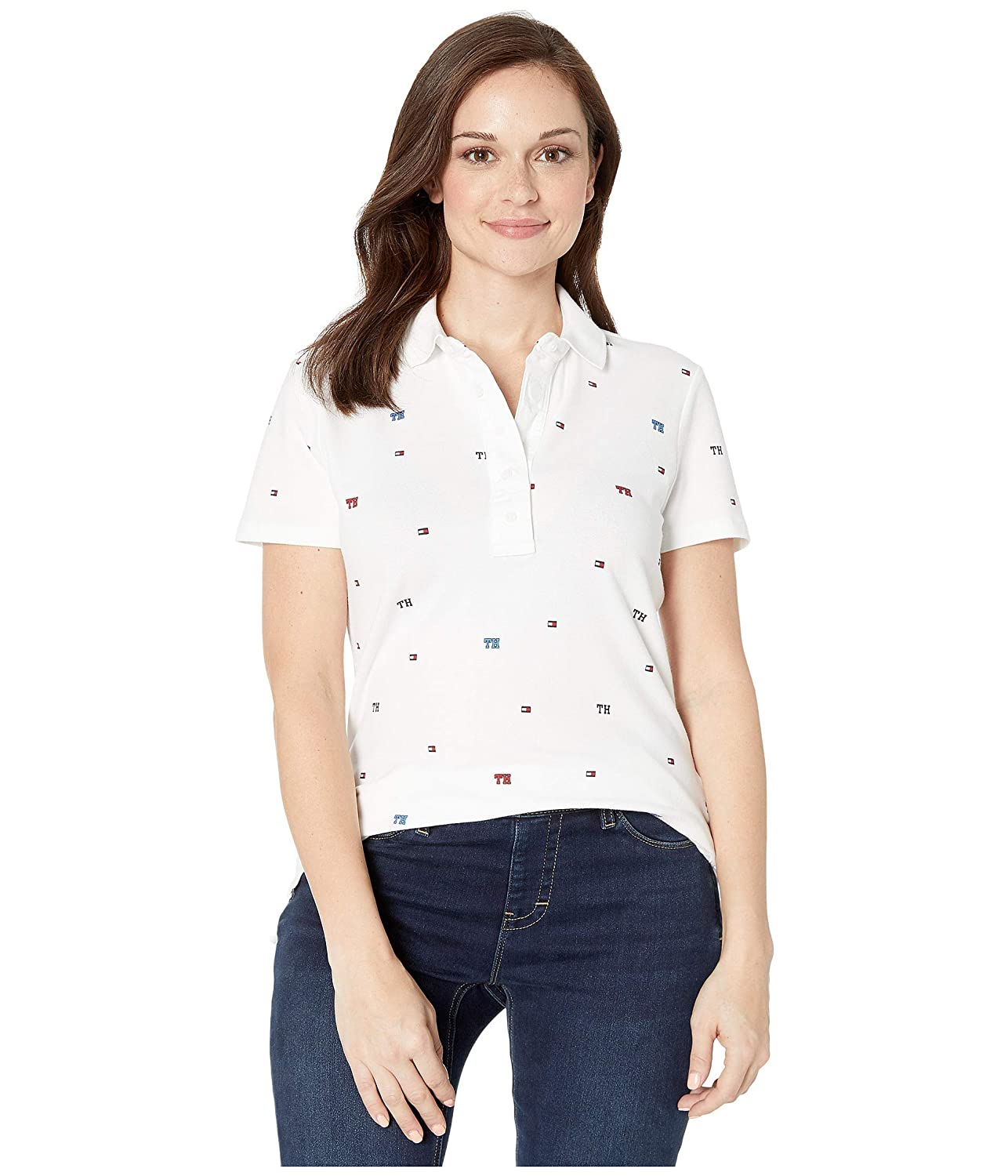 Tommy Hilfiger Womens ADP W Torrence Th Critter Polo Button Down Shirt
