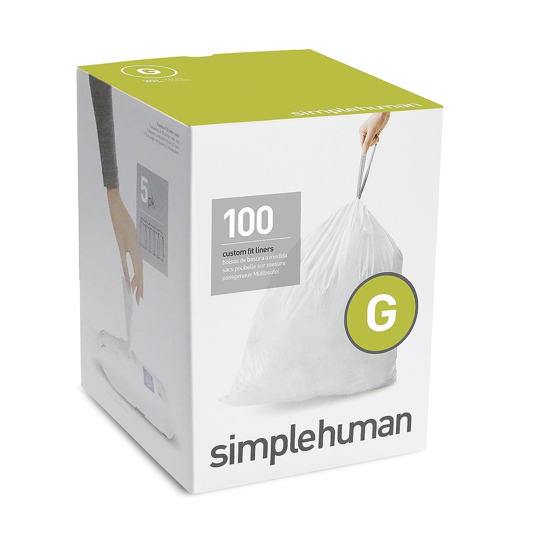 simplehuman code g custom fit liners drawstring trash