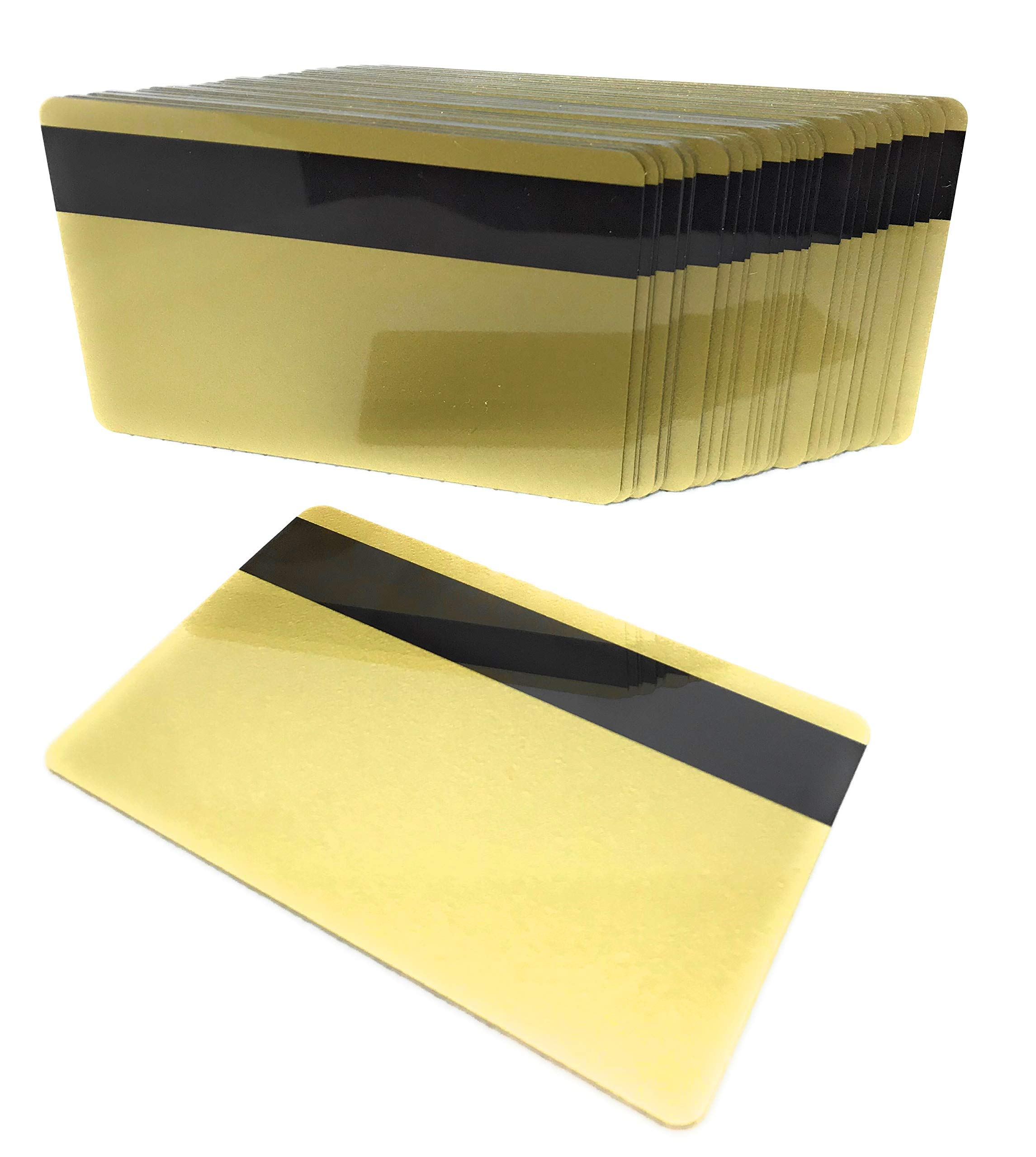 50 PVC Plastic Cards 30Mil HiCo Magnetic Stripe Gold