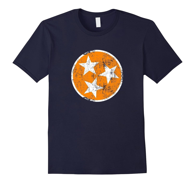 Orange White Tennessee Flag Vintage Grunge Graphic T-Shirt