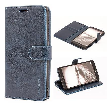Huawei Mate 7 Hülle,Mulbess (Vintage Style) Premium Handy Schutzhülle Ledertasche im Kartenfach für Huawei Mate 7 Tasche Hüll