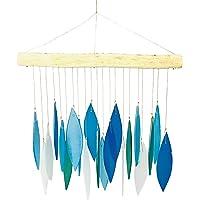 MyFamilyHouse - Carillón de Viento (Cristal), Color Azul