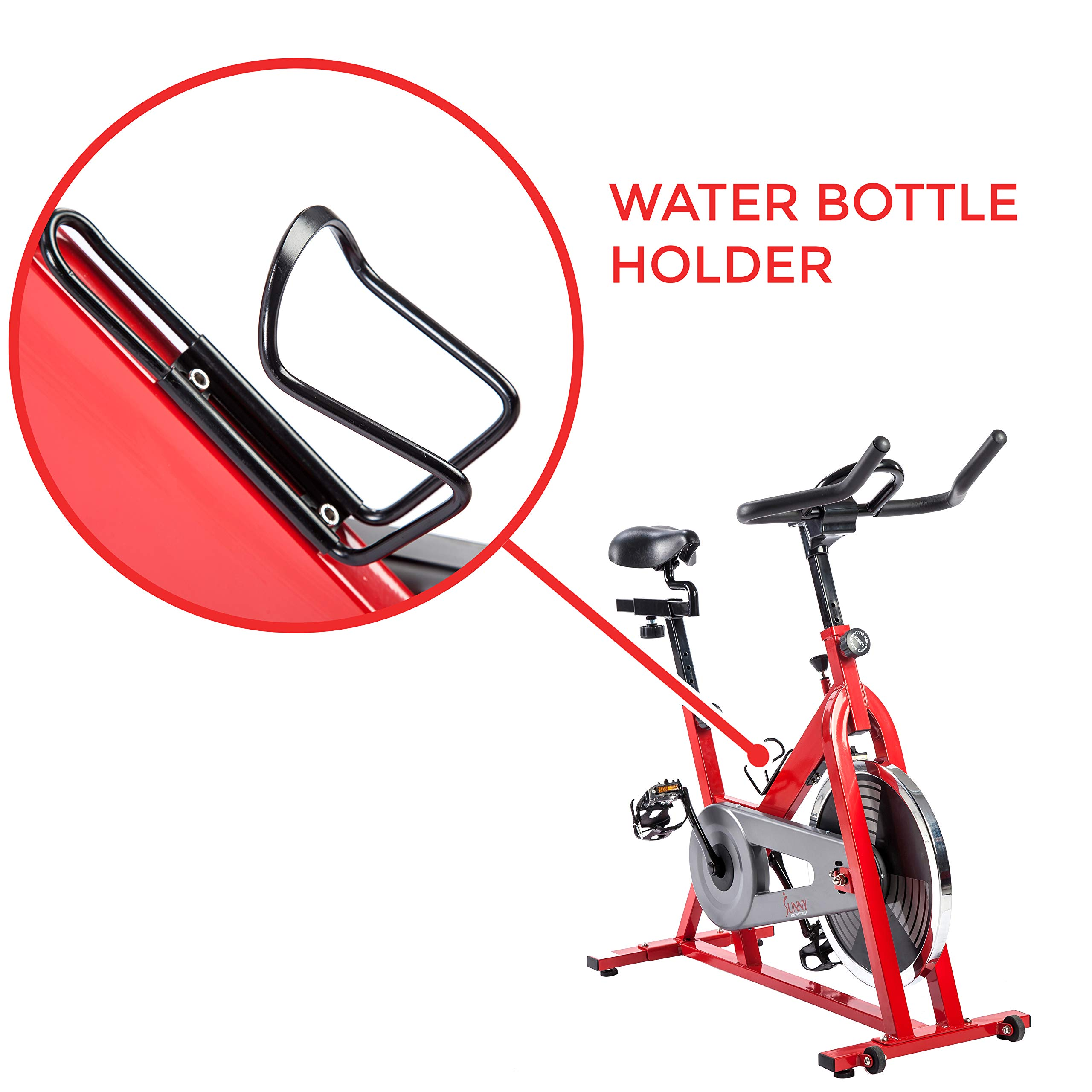 Sunny Health & Fitness SF-B1001 Indoor Cycling Bike, Red by Sunny Health & Fitness (Image #5)