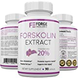 Premium 100% Pure Foskolin Extract 250mg Maximum Strength Fat Burner-Maximum Weight Loss Supplement-Metabolism Booster-High Quality Diet Pill from Forge Excellence-60 Veggie Capsules