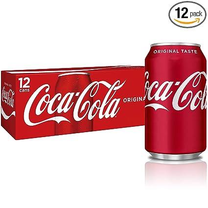 Coca Cola Fridge Paquete De Latas 12 Unidades 12 Onzas Líquidas Grocery Gourmet Food