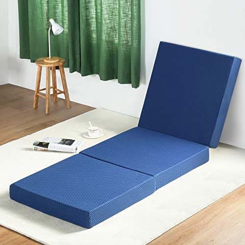 Olee Sleep Tri-Folding Memory Foam Mattress Topper TWIN
