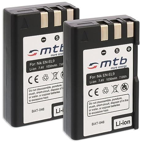 2X Baterías EN-EL9 para Nikon D40, D40x, D60, D3000, D5000