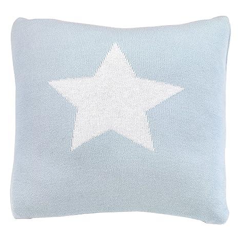 Cambrass Star - Cojín cuadrado 30 x 30 cm, color celeste