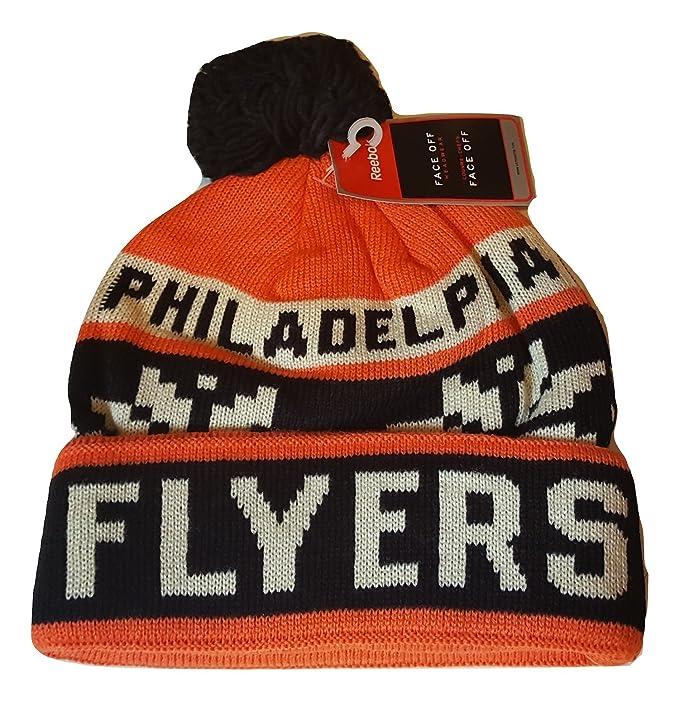 c63dafedb58 Buy NHL Philadelphia Flyers Men s Face-Off Winter Cuffed Pom Knit Beanie