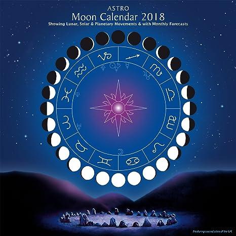 Calendario Lune.Calendario Lunare 2018 Amazon It Cancelleria E Prodotti