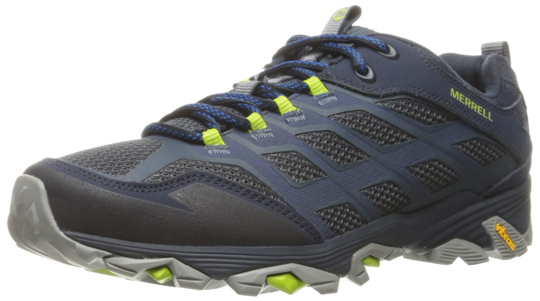 Merrell Men's Moab FST Hiking Shoe, Navy, 12 M US by Merrell