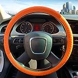 ZATOOTO Silicone Car Steering Wheel Covers - Orange Nonslip 3D Massage Hands 13 Inch - 16.5 Inch for Women Men Better Grip
