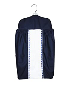 Baby Doll Bedding Regal Diaper Stacker, Navy