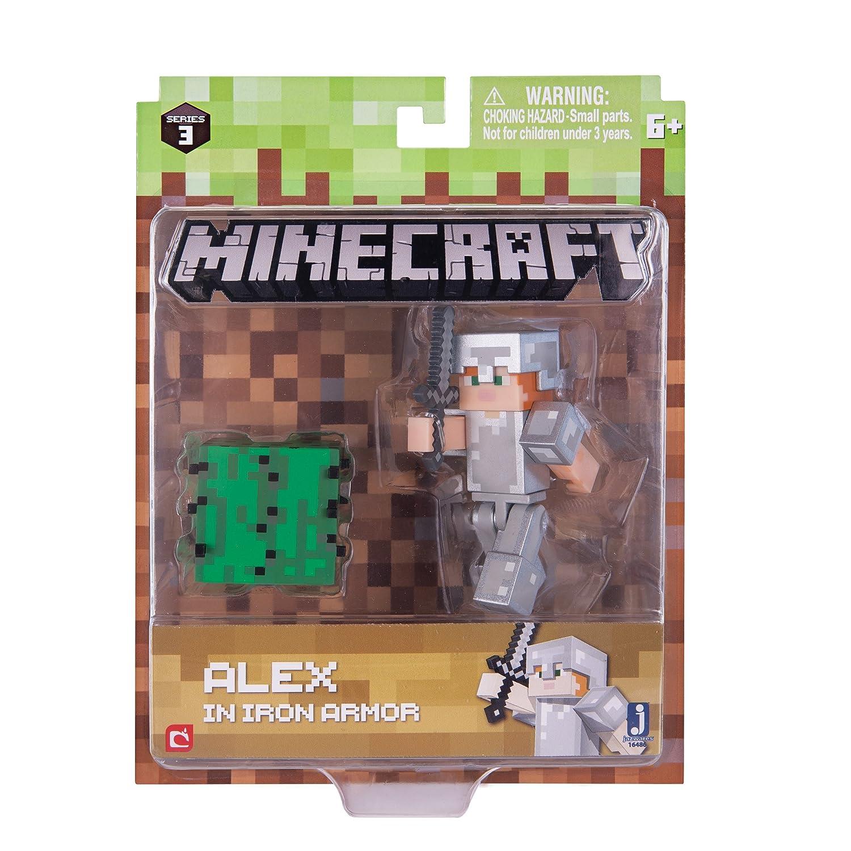 Minecraft 16478 - Alex With Diamond Armor Set - Series 3 Wave 1 Jazwares