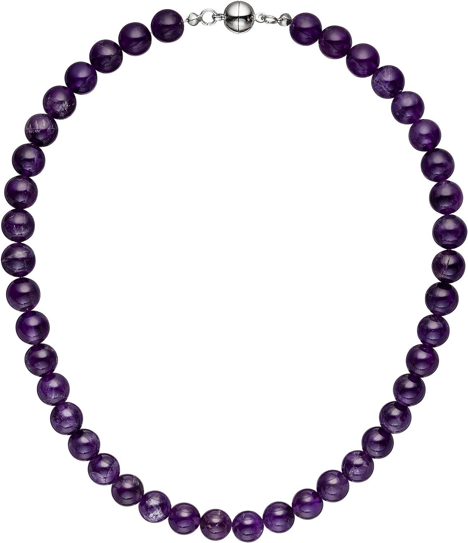 Jobo Collar Cadena amatista lila violeta 44cm Amatista Cadena piedra