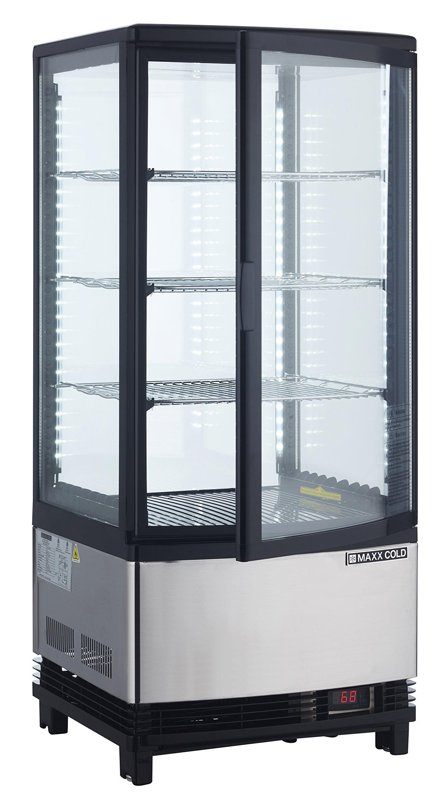 Maxx Cold MECR-31D Countertop 3 cu. ft. 1 Door LED Lighted Display Refrigerator Merchandiser