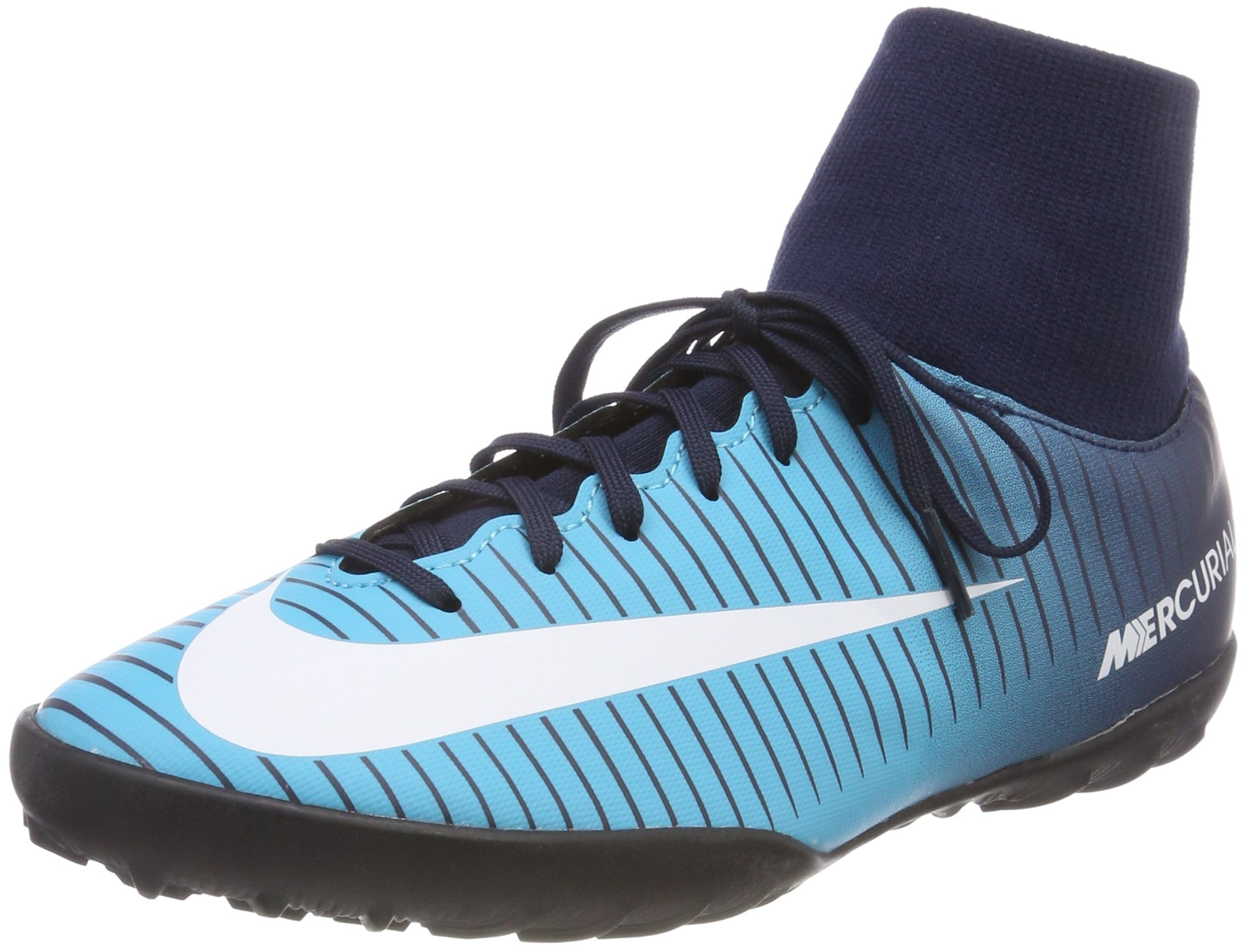 7c12f60fd43 NIKE Youth MercurialX Victory VI CR7 DF Turf Shoes  Obsidian  (5.5Y ...