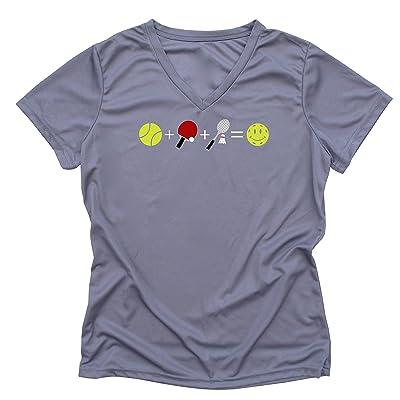 Pickleball Emoji Ladies Performance T-Shirt
