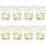 Juvale Party Shot Glasses with Gold Confetti (8 Pack)