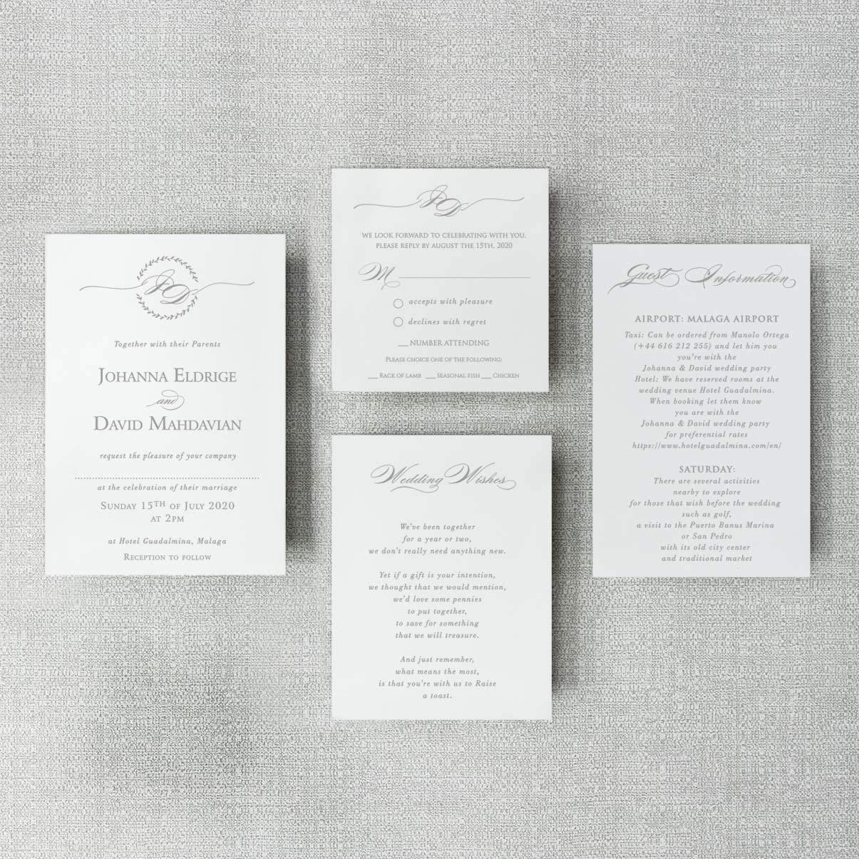 Muestra preimpresa de bricolaje Borgo/ña Invitaciones de boda azul marino cortadas con l/áser con sobres Bolsillo elegante con 4 insertos principal noche. d/ía RSVP