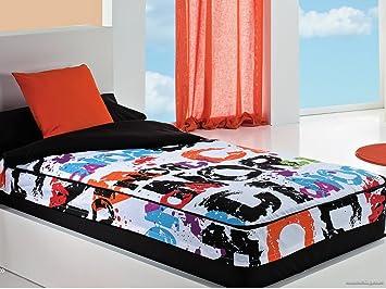 Saco Nórdico con relleno Nórdica negro cama de 90: Amazon.es: Hogar