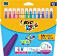 BIC Kids Kid Couleur Baby - Pack de 12 rotuladores infantiles para colorear