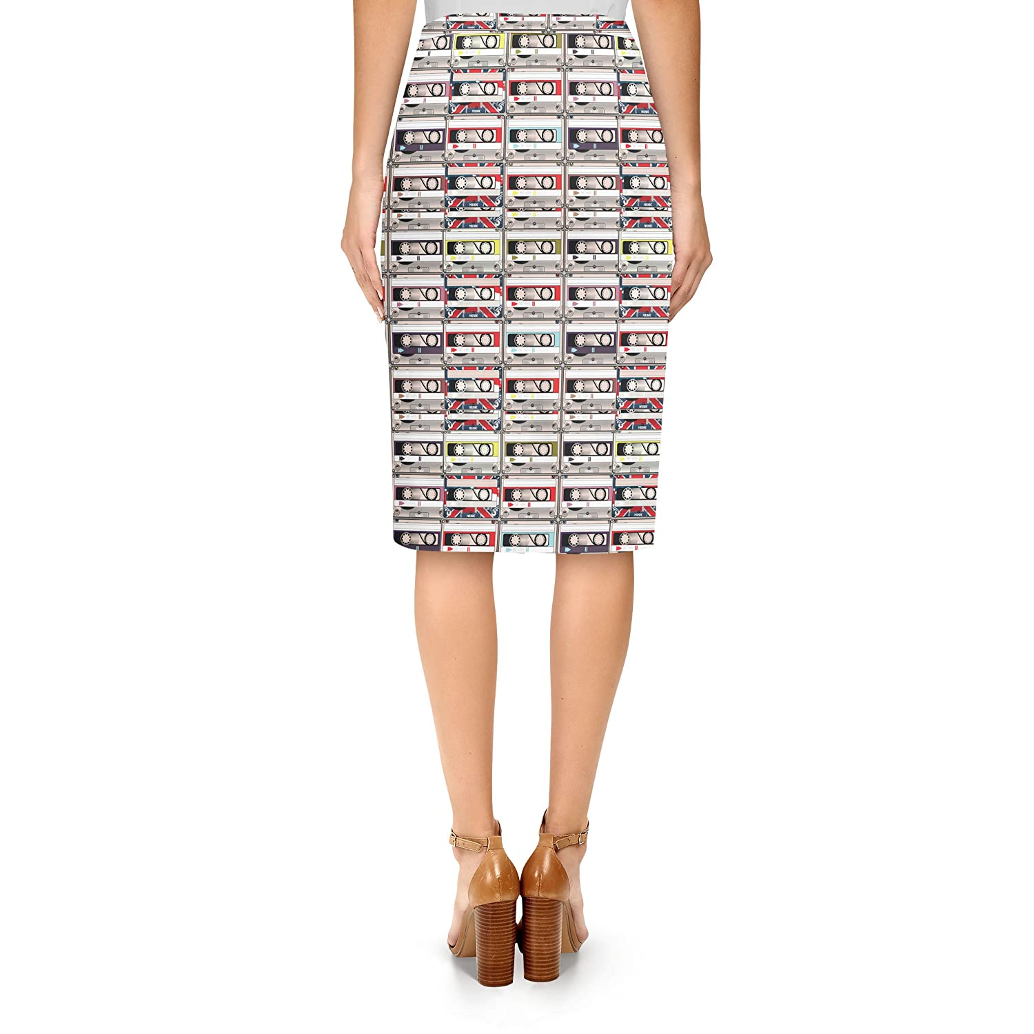 e2e9783ff8 Amazon.com: Retro Cassette Tapes Midi Pencil Skirt: Clothing