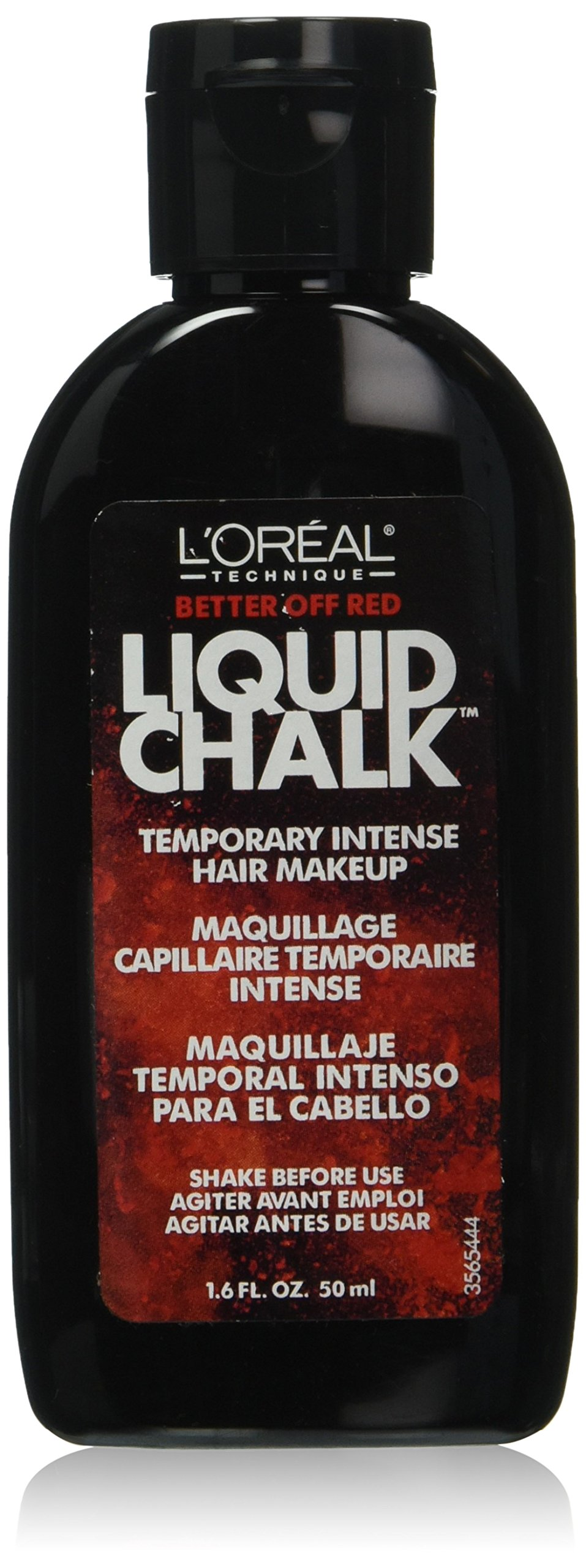 L'Oreal Technique Liquid Chalk Temporary Intense Hair Makeup, Better Off Red, 1.6 Ounce