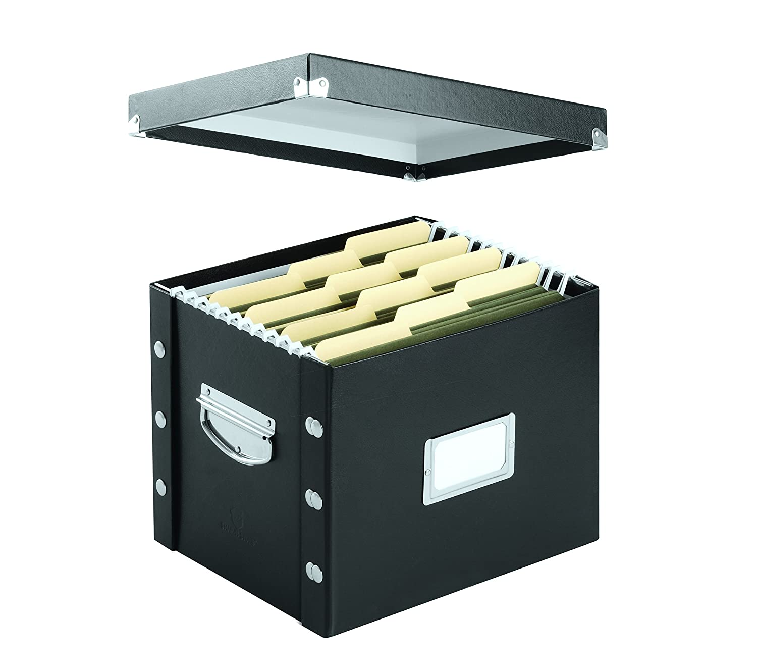 Amazon : Snapnstore Lettersize File Box, Black (sns01533) : Storage File  Boxes : Office Products