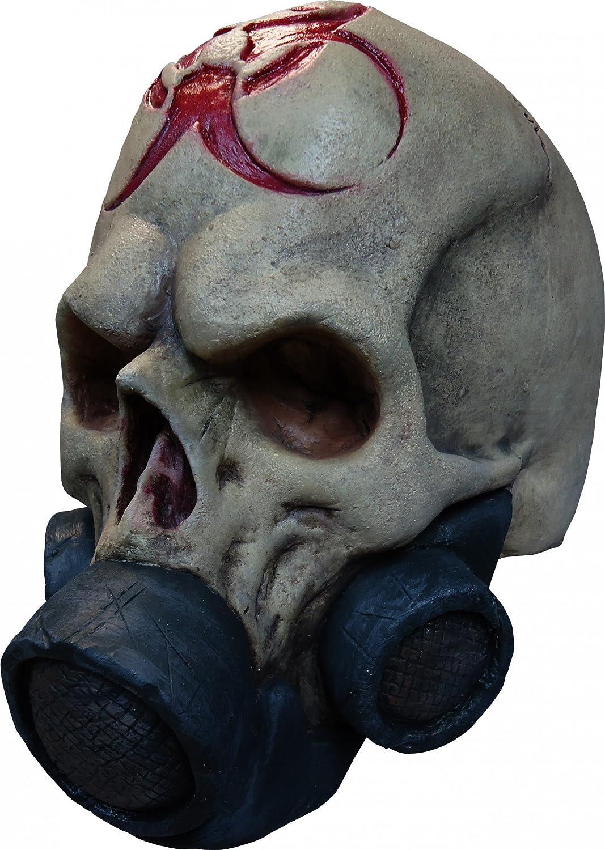 Totenkopf mit Gasmaske für Erwachsene Halloween
