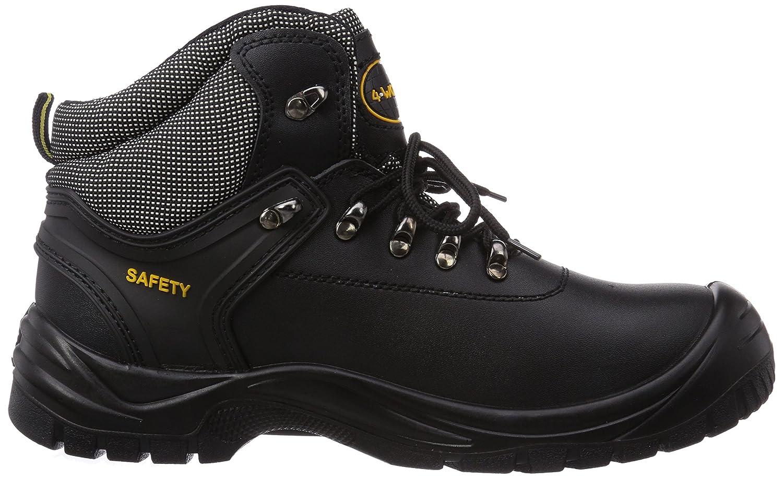 Gevavi 4W-14 4-Work S3 Hoog - Zapatos De Seguridad de Piel Unisex Adulto, Color Negro, Talla 41