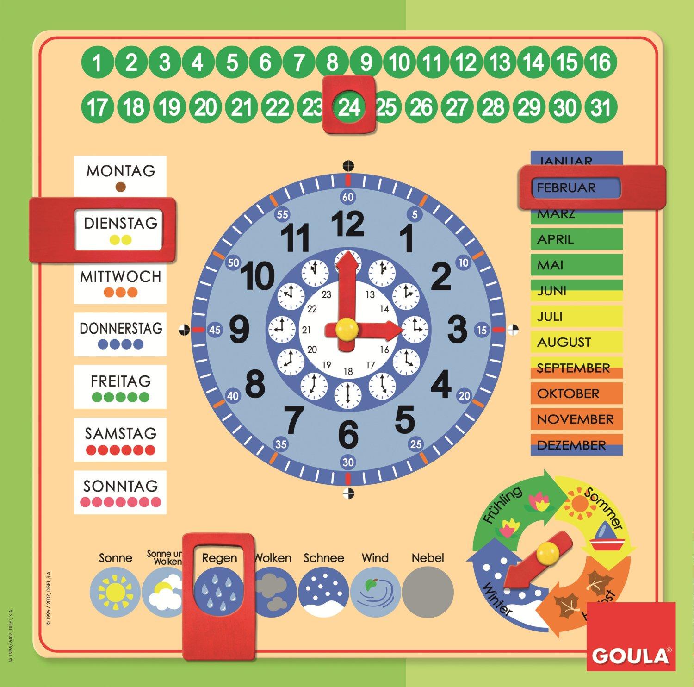 Jumbo D51309 - Kalender-Uhr: Amazon.de: Spielzeug