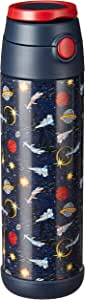 Snug Flask for Kids - Vacuum Insulated Water Bottle with Straw (Space Wars, 17oz)