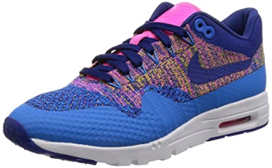 new product a4ef1 3ab73 Nike Air Max 1 Ultra Flyknit Womens Photo Blue Deep Royal Blue Running  Sneakers