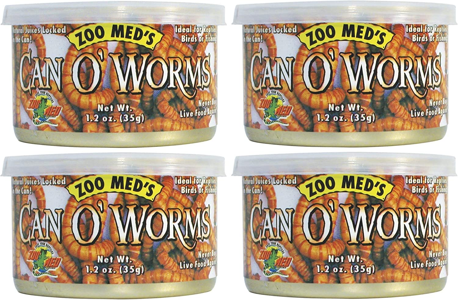 Zoo Med Can O' Worms 1.2 oz - Pack of 4