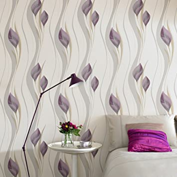 Superfresco Easy Paste The Wall Peace Plum Cream Wallpaper Amazoncouk DIY Tools