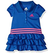 adidas Baby Girls Active Polo Dress, Hi-Res Blue Adi, 12 Months