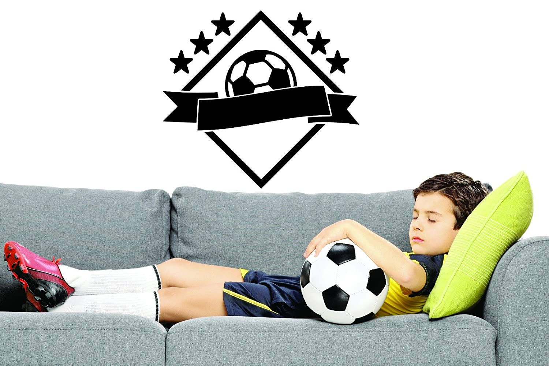 20 x 30 Black Design with Vinyl RAD 918 3 Soccer Ball Design Boy Girl Bedroom Sport Wall Decal