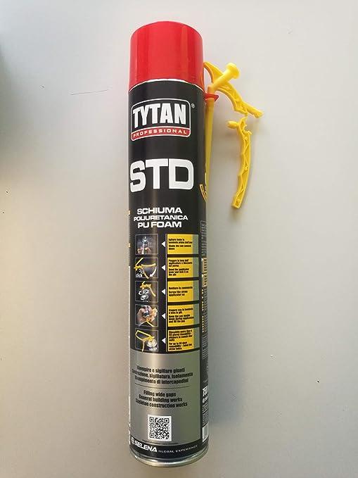 Espuma poliuretano universal con pajita 750 ml – Tytan STD