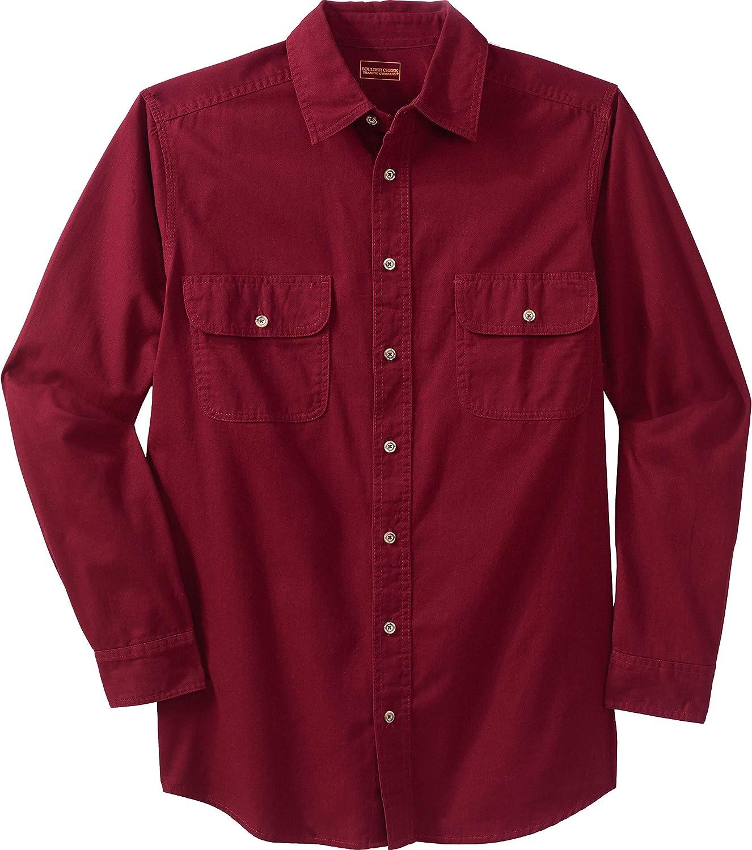 Boulder Creek by Kingsize Mens Big /& Tall Long-Sleeve Button Down Shirt