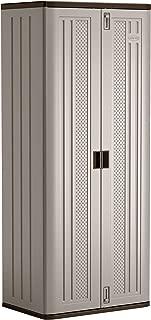 "product image for Suncast 72"" Resin Base Garage Storage Cabinet, Platinum"