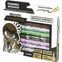 Crayola 58-8628 Alternative Marker, color Metálico, Set de 8