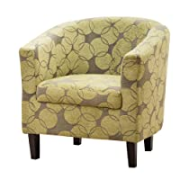 Sofa Collection Funky Fabric Benissa Tub Chair/Armchair Seating, Fabric, Green, 66 x 71 x 77 cm