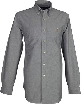 Ralph Lauren - Camisa casual - con botones - Manga larga - para hombre: Amazon.es: Ropa y accesorios