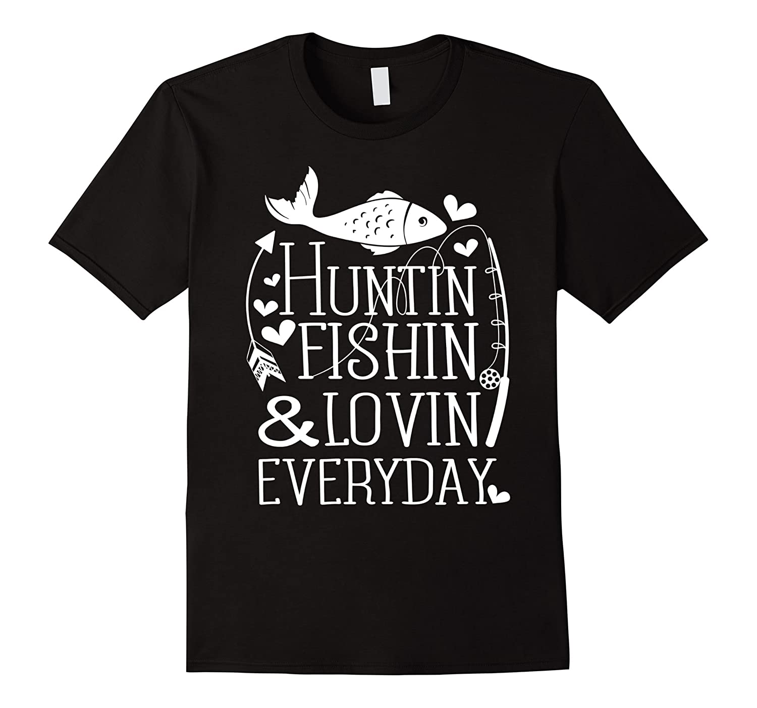 funny shirt hunting fishing loving everyday fishing t